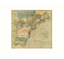 A new and accurate map of North America (1771) Art Print