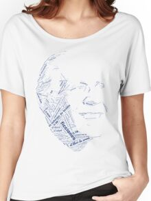 Jorge Luis Borges - Word Collage with +100 Works Women's Relaxed Fit T-Shirt