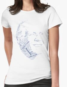 Jorge Luis Borges - Word Collage with +100 Works Womens Fitted T-Shirt
