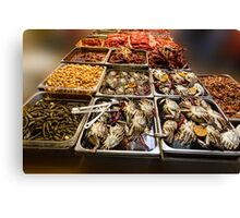 Market Place Crabs and More Canvas Print