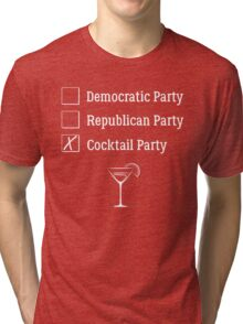 Democratic Republican Cocktail Party T Shirt Tri-blend T-Shirt
