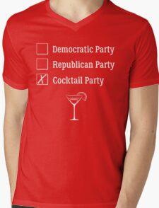 Democratic Republican Cocktail Party T Shirt Mens V-Neck T-Shirt