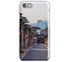 Walking Bukchon Hanok Village iPhone Case/Skin
