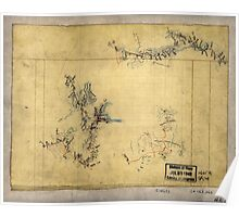 109  Three sketches on one sheet of fortifications roads and streams in the vicinity of Salem Church and Banks Ford in the battle of Chancellorsville May 1863 Poster