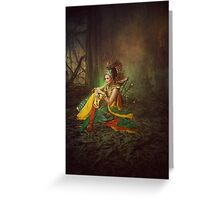 woman filled with honor Greeting Card