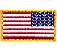 American, ARMY, Flag, reverse side flag, Arm Badge, Embroidered, Stars and Stripes, USA, United States, America, Military Badge Photographic Print
