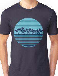 Palm trees blue beach Unisex T-Shirt