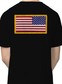 American, ARMY, Flag, reverse side flag, Arm Badge, Embroidered, Stars and Stripes, USA, United States, America, Military Badge Classic T-Shirt
