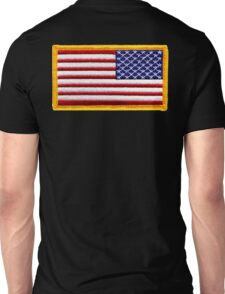 American, ARMY, Flag, reverse side flag, Arm Badge, Embroidered, Stars and Stripes, USA, United States, America, Military Badge Unisex T-Shirt
