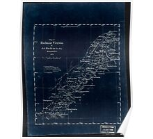 180 Map of Piedmont Virginia Inverted Poster