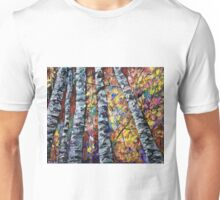 White Trees by Lena Owens/OLena Art Unisex T-Shirt