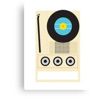 Portable Record Player Canvas Print