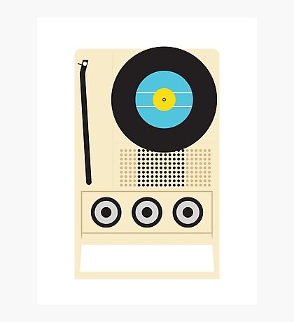 Portable Record Player Photographic Print