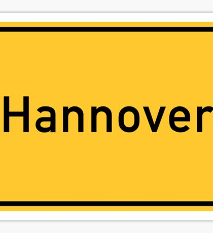 Hannover, Road Sign, Germany Sticker