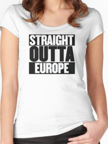 Straight Outta Europe - BREXIT Women's Fitted Scoop T-Shirt