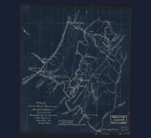 173 Map of Little North Mountain or Preston Wilson iron lands Inverted One Piece - Short Sleeve