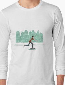 Euro street skater in gouache Long Sleeve T-Shirt