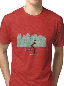 Euro street skater in gouache Tri-blend T-Shirt