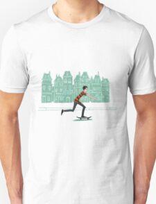 Euro street skater in gouache T-Shirt