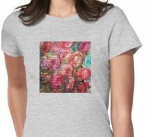 Rosy Posy Womens Fitted T-Shirt