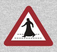 Pedestrian Crossing, Traffic Sign, United Arab Emirates Kids Tee