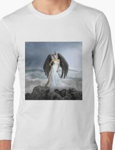 winged woman with beauty Long Sleeve T-Shirt