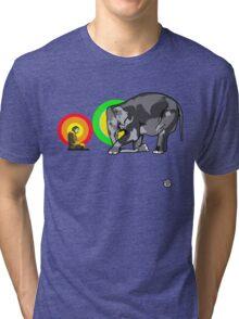 Buddha & The Elephant  Tri-blend T-Shirt
