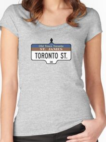 Toronto Street Sign, Toronto, Canada Women's Fitted Scoop T-Shirt
