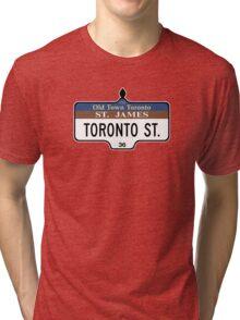 Toronto Street Sign, Toronto, Canada Tri-blend T-Shirt