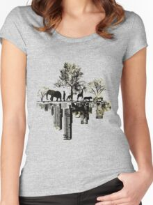 Nature -human Women's Fitted Scoop T-Shirt