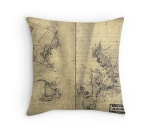 069  Preliminary sketch of a portion of the Belle Grove or Cedar Creek battlefield area 1 Throw Pillow