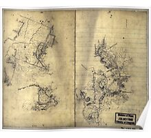 069  Preliminary sketch of a portion of the Belle Grove or Cedar Creek battlefield area 1 Poster