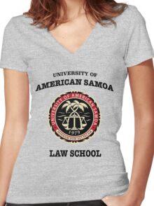 University of American Samoa Women's Fitted V-Neck T-Shirt