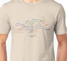 Literally Translated Metro Map - Barcelona Unisex T-Shirt