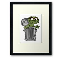 Oscar The Grouch Framed Print
