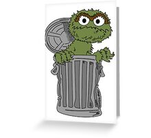 Oscar The Grouch Greeting Card