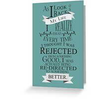 Inspiration Typography Quote Greeting Card