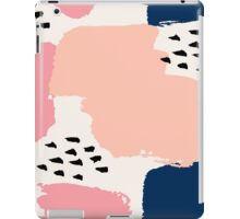 Pink, Navy and Black Abstract iPad Case/Skin