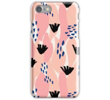 Pink, Blue and Black Abstract iPhone Case/Skin