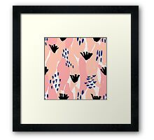 Pink, Blue and Black Abstract Framed Print