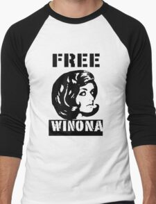 FREE WINONA Men's Baseball ¾ T-Shirt