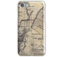 268 Topographical map showing the location of Big Hill iron lands Botetourt Co Va iPhone Case/Skin