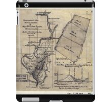 268 Topographical map showing the location of Big Hill iron lands Botetourt Co Va iPad Case/Skin