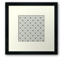 Geometry seamless pattern Framed Print