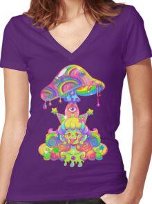 Mush for Brains Women's Fitted V-Neck T-Shirt