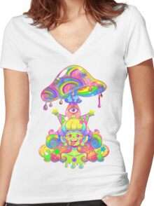 Mush for Brains Women's Fitted V-Neck T-Shirt