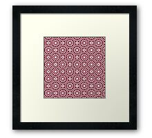 Flower seamless pattern Framed Print