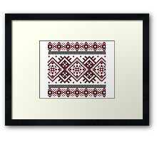 Printed Knit Leggings geometric design ornament style legging Framed Print