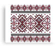 Printed Knit Leggings geometric design ornament style legging Canvas Print