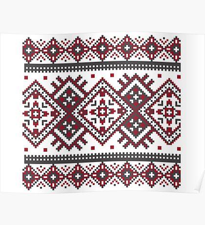 Printed Knit Leggings geometric design ornament style legging Poster